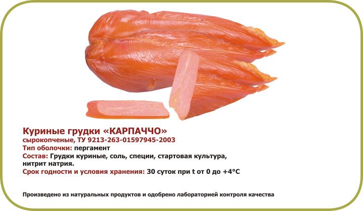 Карпаччо из куриной грудки в домашних условиях